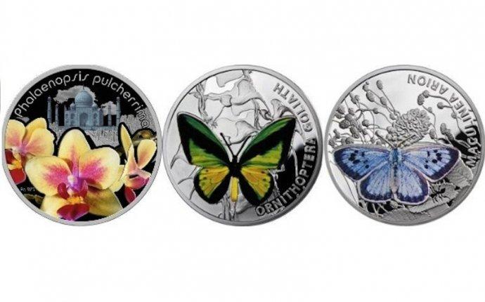 Монеты с изображением цветов фото