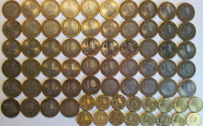 рублей Юбилейные монеты РФ Биметалл ГВС 70 лет победы 70 монет с 1